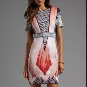 NWT Clover Canyon multicolor Fitted designer dress